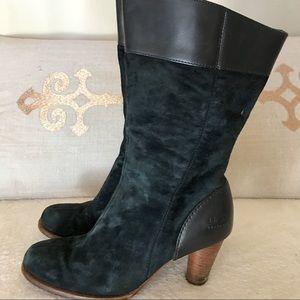 Uggs ugg heeled boots sz 7.5 black